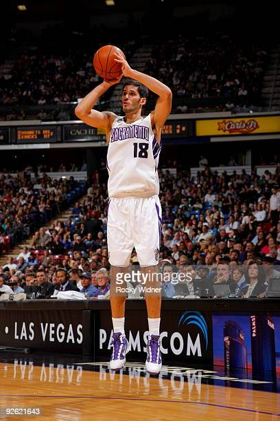 Omri Casspi of the Sacramento Kings shoots the ball against the Memphis Grizzlies during the game on November 2 2009 at ARCO Arena in Sacramento...