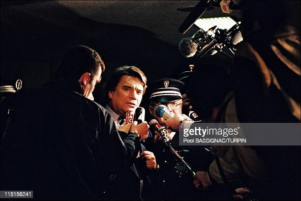 Bernard Tapie leaving the court France on March 23 1995