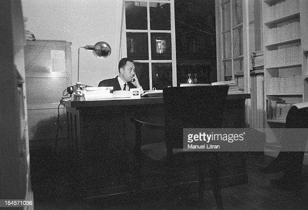 On 17 October 1957 the writer Albert Camus receives the Nobel Prize for literature that reward a writer who rendered great service to humanity thanks...