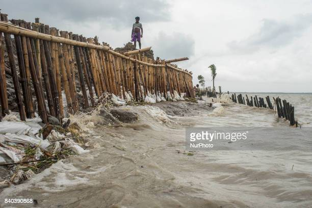 On 28 August 2017 in Ghoramara India The high tide water has forcefully broken the river barrage and therefore the entire ghoramara island has become...