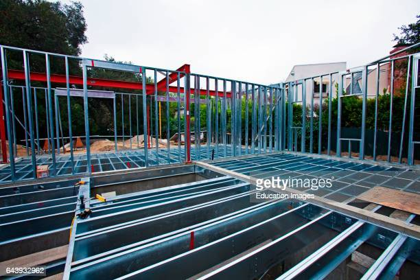 On 3/5/2013 the steel framing continues to be assembled over the foundation on the Begley's new home Steel while not a common material for...