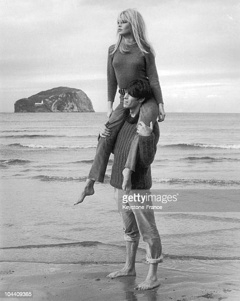 On a beach of Dirleton Scotland the French actors Laurent TERZIEFF and Brigitte BARDOT shot the film A COEUR JOIE under the direction of Serge...