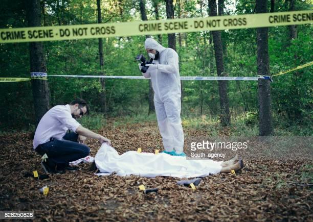 On a crime scene