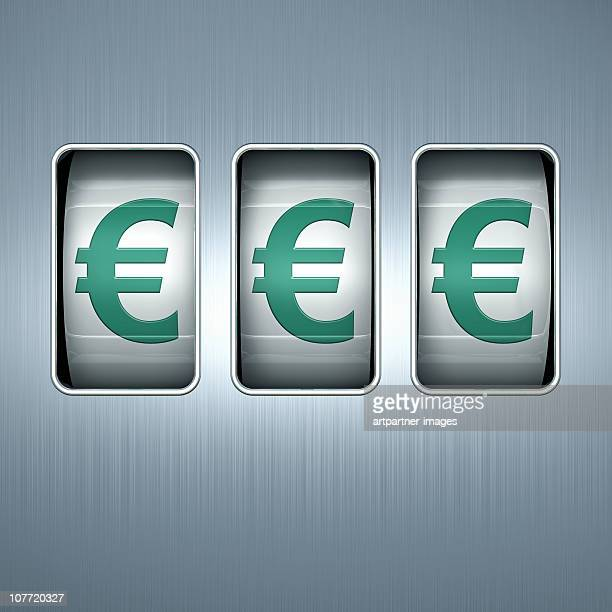 EUROS on a Slot Machine Display