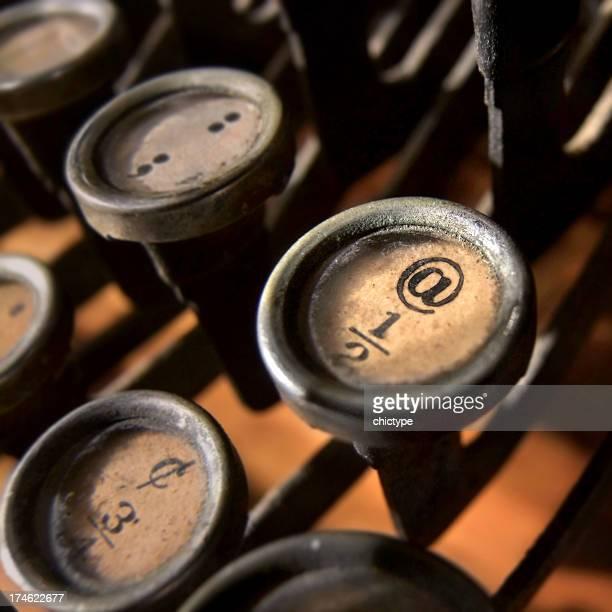 @ on a typewriter key