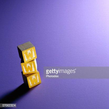 WWW on Alphabet Blocks : Stock Photo