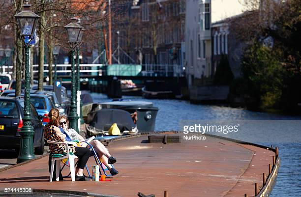 On April 15 2015 was the warmest day of Spring in The Netherlands this year In the student city of Leiden people can be seen going out in their boats...