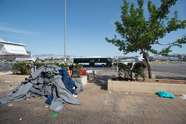 Piraeus E2 Terminal of Athens evacuated