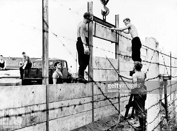 On August 13th 1961 building commandos of the National People's Army of the German Democratic Republic started the erection of the 350 mtrs high wall...