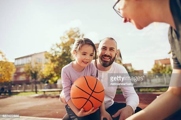 On basketball field