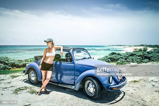 VW on beach