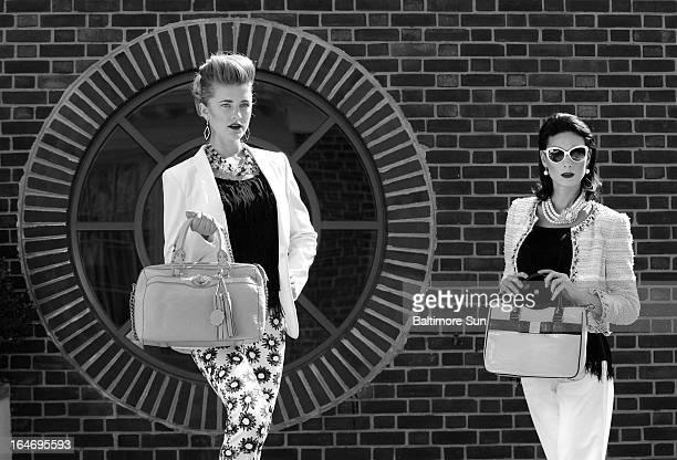 Marc Cain print pants $318 Athena earrings $78 both Jones Jones Rag Bone blazer Ruth Shaw $795 Avec fringe top Lori K $110 Isabelle Fiore bag...