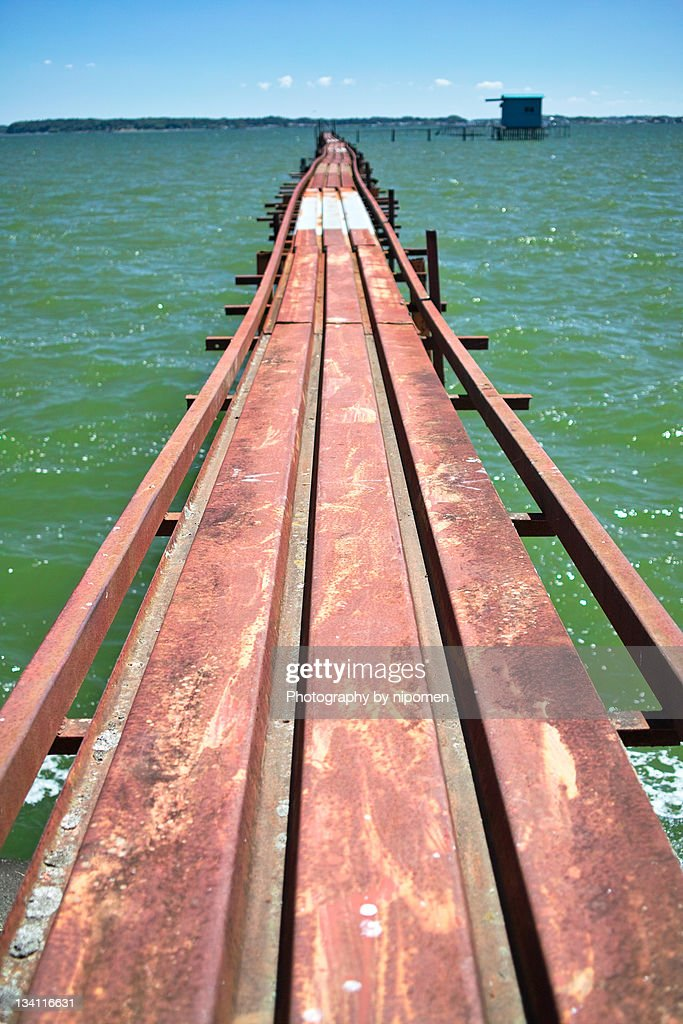 On bridge : Stock Photo