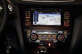 GPS on car dashboard