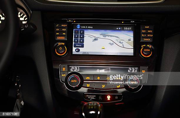 GPS on car dashboard