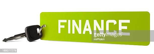 FINANCE on car registration plate keyring