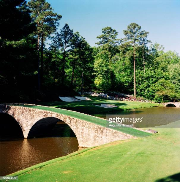 On course view of the 12th green from across Rae's Creek at the Augusta National Golf Club in Augusta Georgia