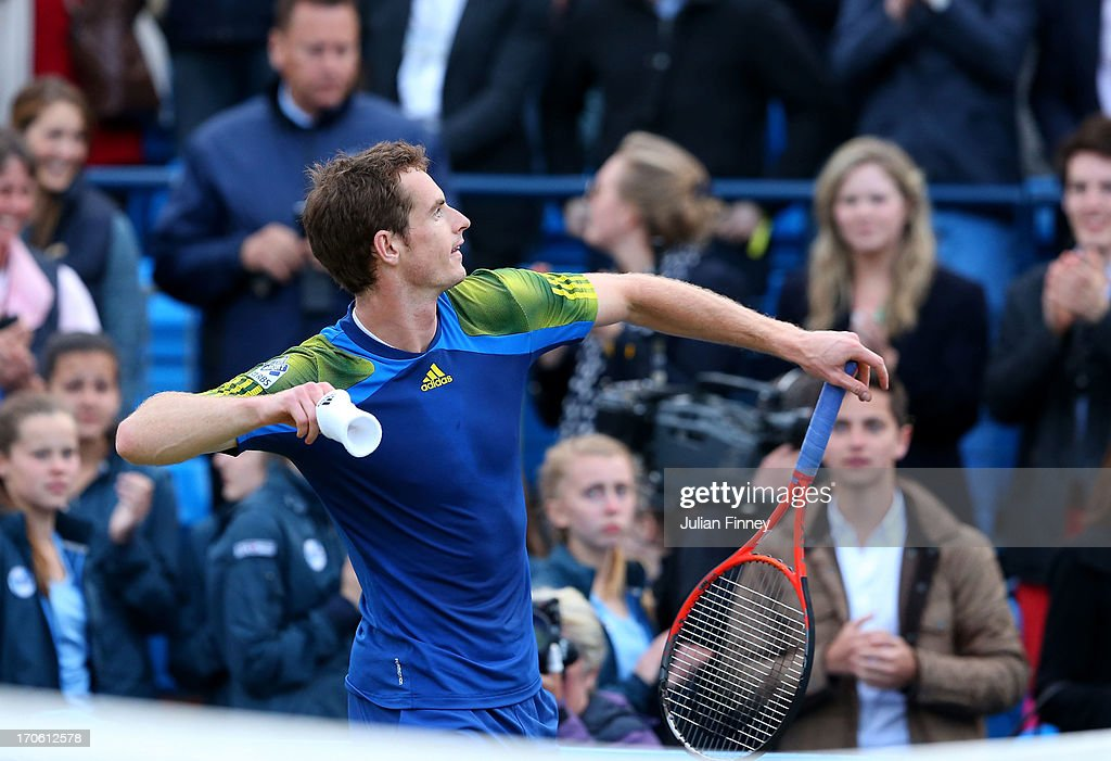 on day six of the AEGON Championships at Queens Club on June 15, 2013 in London, England.