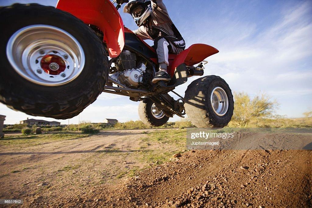ATV on dirt road, Arizona