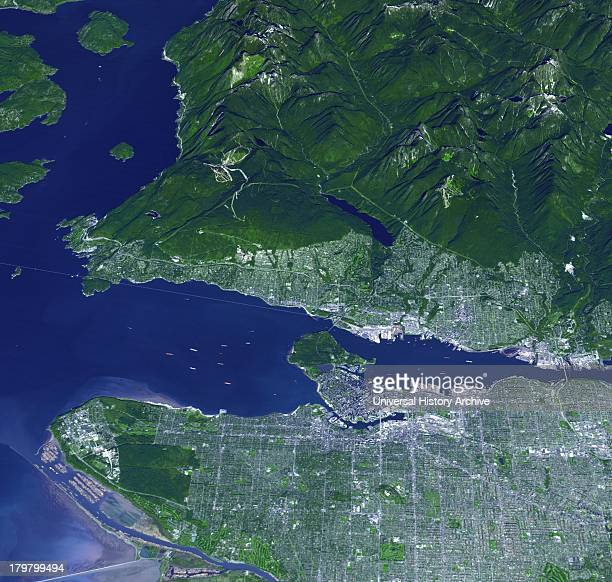 On Feb 12 the 21st Winter Olympic Games opened in the city of Vancouver British Columbia Canada Sept 29 2008Satellite image