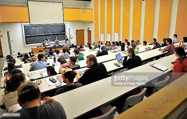 On Friday September 13 plenty of room for more as USM students await the start of their chemistry class in the Lecture Hall where Chemistry Professor...
