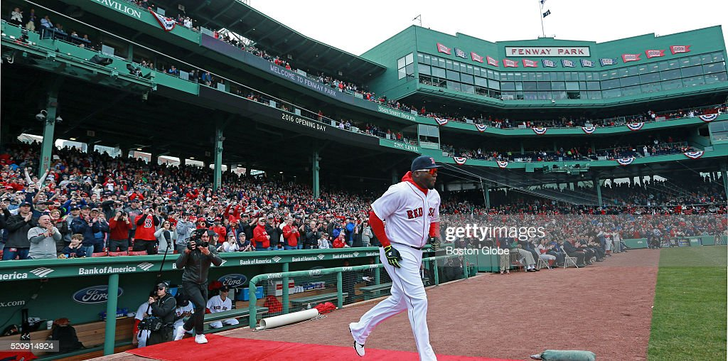 On His Final Opening Day At Fenway Park Red Sox Designated Hitter David Ortiz Was