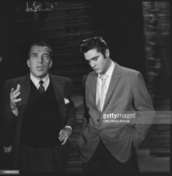 PRESLEY on his second appearance on the ED SULLIVAN SHOW October 28 1956 At CBS' Studio 50 the former name of The Ed Sullivan Theater