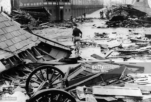 On January 15 a giant tank in the North End collapsed sending a wave of an estimated 23 million gallons of molasses through the streets of Boston...