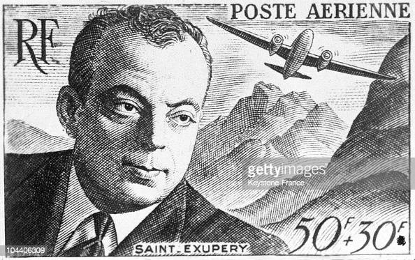Stamp bearing the image of saint exupery in 1958 pictures getty