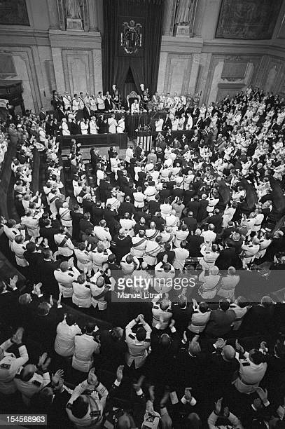 On July 24 general view of the Palace of Cortes in Madrid Spain and Franco makes JUAN CARLOS became Prince of Spain his official successor Assistance...
