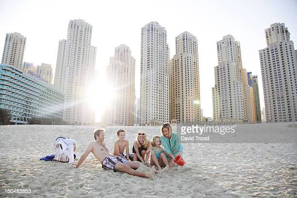 On Jumeirah beach, Dubai.