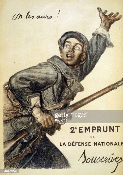 On les aura 2e Emprunt de la Defense Nationale Souscrivez Poster by Abel Faivre 18671945 artist Published 1916 as a colour lithograph A French...