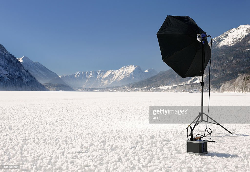 on location photography portable flash equipment stock photo getty images. Black Bedroom Furniture Sets. Home Design Ideas