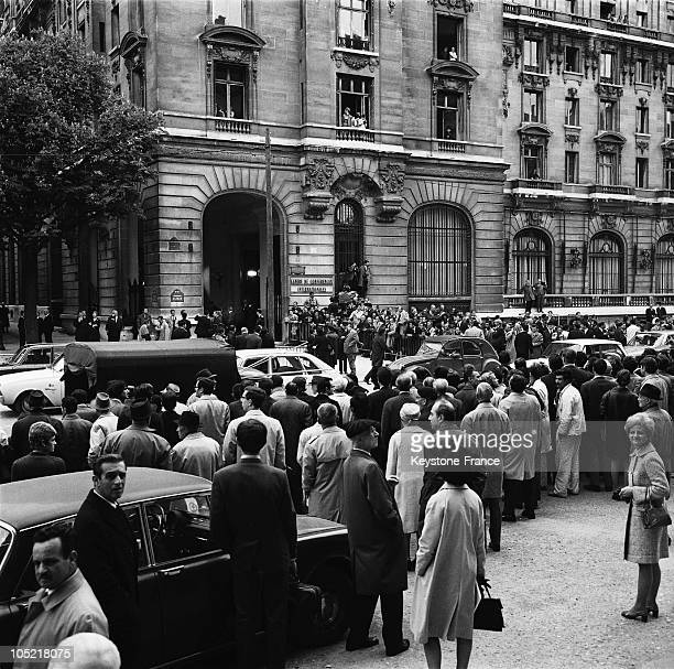 On May 13 Crowds Gathered Before The Former Majestic Hotel Turned Into The International Conference Center On Kleber Avenue In Paris For The Start Of...
