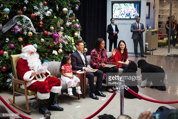 On Monday December 12 patients families and staff of Childrens National Health System were visited in the Main Atrium by Santa Claus 5yearold patient...