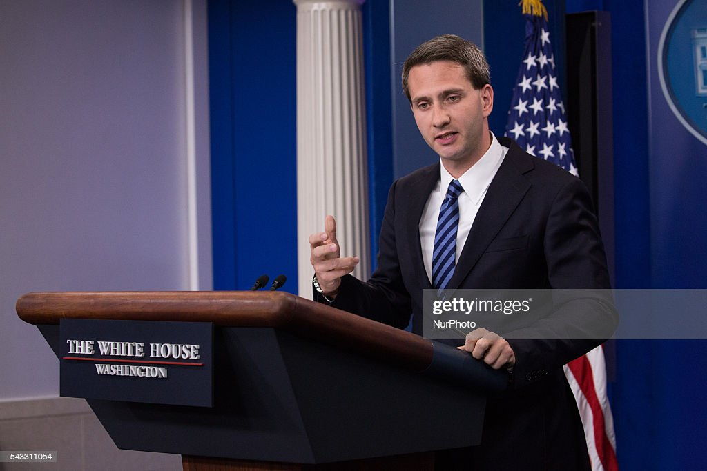 On Monday, June 27, 2016, in the James S. Brady Briefing Room, Eric Schultz, White House Principal Deputy Press Secretary, gave the press briefing.
