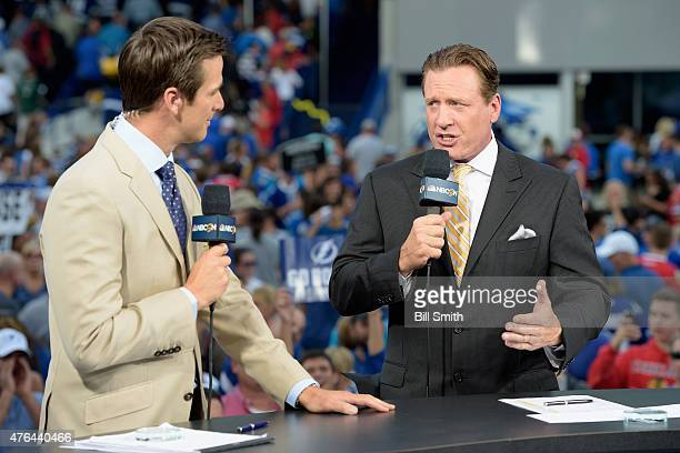 NHL on NBC onair talent Dave Briggs and Jeremy Roenick discuss Game One of the 2015 NHL Stanley Cup Final between the Tampa Bay Lightning and the...