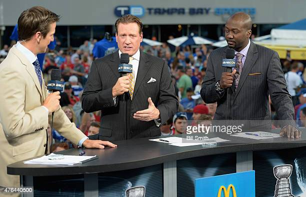 NHL on NBC onair talent Dave Briggs Jeremy Roenick and Anson Carter discuss Game One of the 2015 NHL Stanley Cup Final between the Tampa Bay...