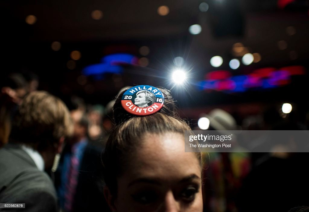 MANHATTAN, NY - On New York state primary night, supporters of former Secretary of State Hillary Clinton watch the primary results and enjoy the party during the Hillary Victory Party at the Sheraton Hotel in midtown Manhattan, New York on Tuesday April 19 2016.