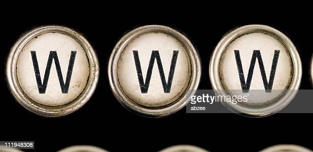 WWW sur la vieille machine à écrire clés