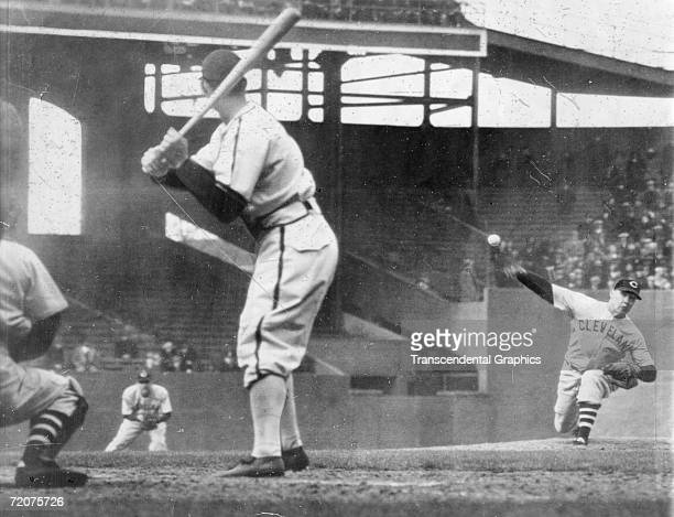 CHICAGO APRIL 16 1940 On opening day in Chicago April 16 Indians pitcher Bob Feller fires a no hitter against the White Sox at Comiskey Park in...