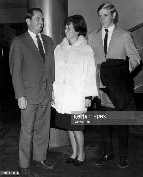 On OpeningNight Scene A family threesome at opening of 'A For Country' were Mr and Mrs Donald Bromfield Jr and their son Vince Credit Denver Post