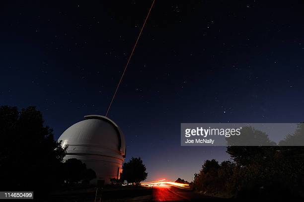 On Palomar Mountain in California lies the Hale Telescope that has been in use for 60 years Now added to the telescope is a optics laser that shoots...