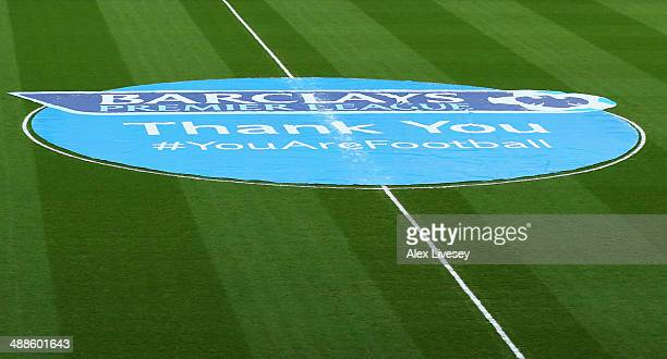 On pitch logo on display prior to the Barclays Premier League match between Sunderland and West Bromwich Albion at Stadium of Light on May 7 2014 in...
