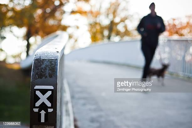 X on railing