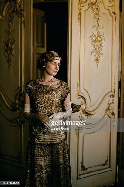On set during the production of the last series of Downton Abbey with Laura Carmichael as Lady Edith Crawley photographed for Variety magazine on...