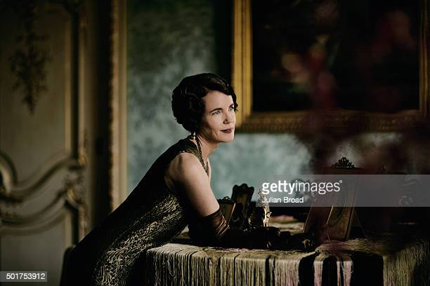 On set during the production of the last series of Downton Abbey with Elizabeth McGovern as Mary Crawley photographed for Variety magazine on July 3...
