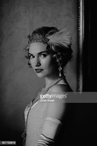 On set during the production of the last series of Downton Abbey with Lily James as Rose MacClare photographed for Variety magazine on July 3 2015 in...