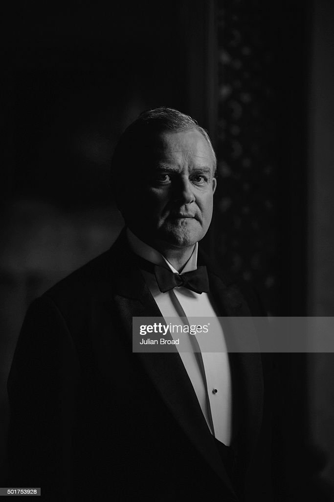 On set during the production of the last series of Downton Abbey with Hugh Bonneville as Robert Crawley photographed for Variety magazine on July 3, 2015 in Newbury, England.