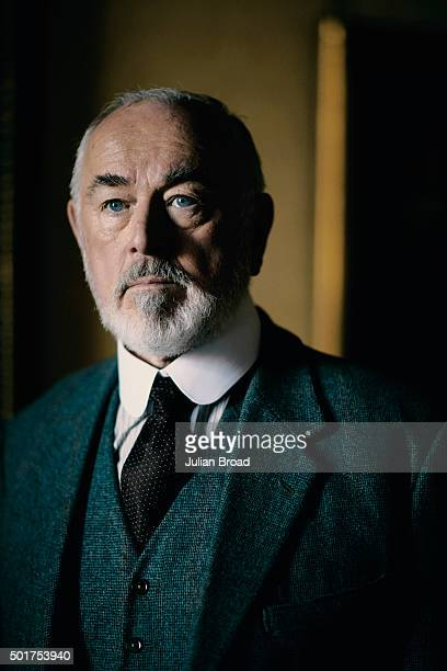 On set during the production of the last series of Downton Abbey with Peter Egan as Hugh MacClare is photographed for Variety magazine on July 3 2015...